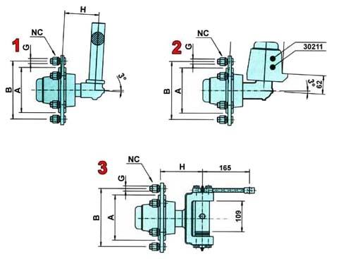 Broson Wheels – styrbara axeltappar
